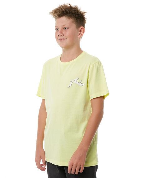 PALE LIME KIDS BOYS RUSTY TEES - TTB0570PLI