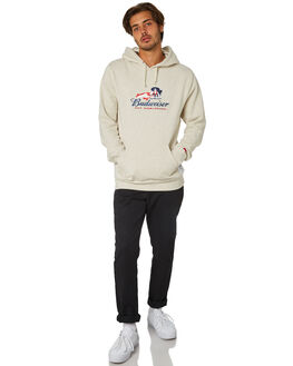 OATMEAL MENS CLOTHING HUF JUMPERS - PF00138OATML