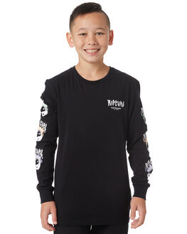 BLACK KIDS BOYS RIP CURL TEES - KTEXT30090