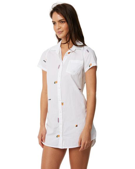 WHITE WOMENS CLOTHING RVCA DRESSES - R483752WHT