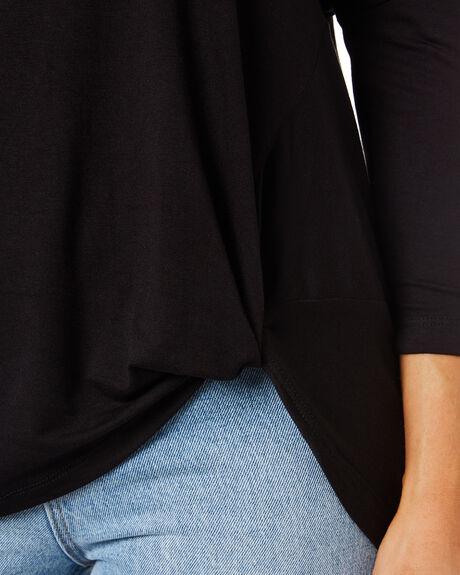 BLACK WOMENS CLOTHING BETTY BASICS TEES - BB533T21BLK