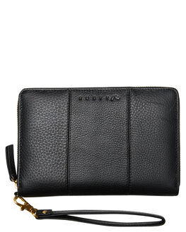 BLACK WOMENS ACCESSORIES RUSTY PURSES + WALLETS - WAL0770BK1