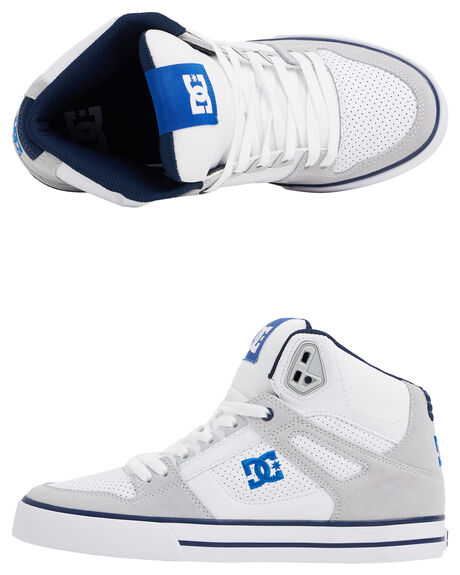 WHITE/BLUE MENS FOOTWEAR DC SHOES SNEAKERS - ADYS400043-WBL