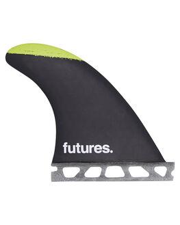BLACK RED SURF HARDWARE FUTURE FINS FINS - JJS-010303BRED