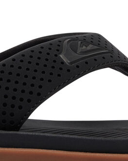 BLACK BLACK BROWN MENS FOOTWEAR QUIKSILVER THONGS - AQYL100497XKKC