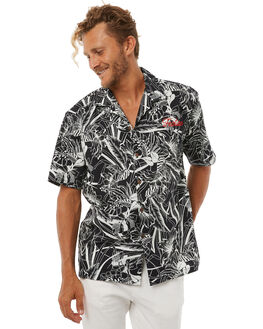 BLACK FLORAL MENS CLOTHING FEAT SHIRTS - FTSPHIL01BLKF