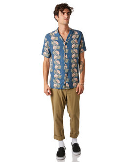 PACIFIC BLUE MENS CLOTHING RHYTHM SHIRTS - JAN20M-WT05-BLU