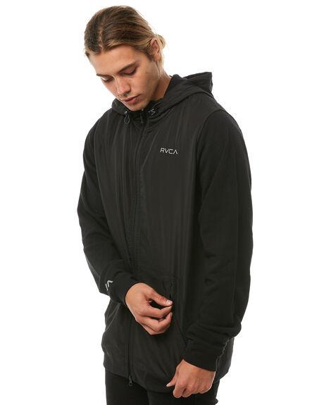 BLACK MENS CLOTHING RVCA JUMPERS - R183152BLK