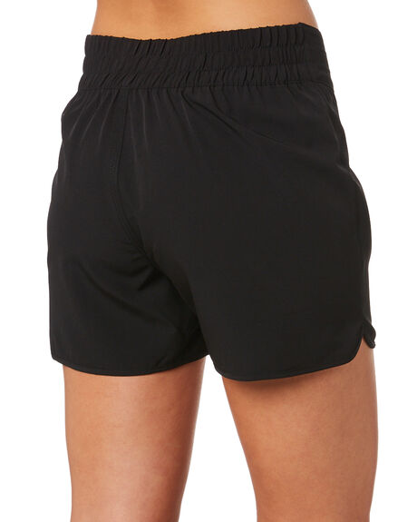BLACK WOMENS CLOTHING SWELL SHORTS - S8202232BLK