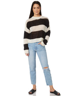 BLACK WHITE WOMENS CLOTHING MINKPINK KNITS + CARDIGANS - MP1801804BKWH