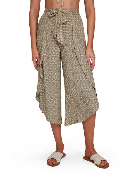 GREEN WOMENS CLOTHING BILLABONG PANTS - BB-6503437-GRN