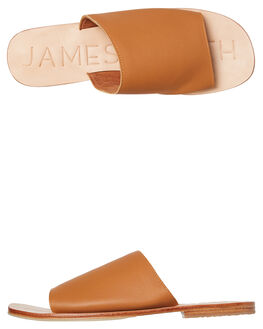 TAN WOMENS FOOTWEAR JAMES SMITH SLIDES - 6455768TAN
