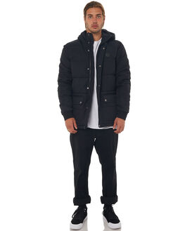 BLACK MENS CLOTHING DC SHOES JACKETS - EDYJK03163KVJ0