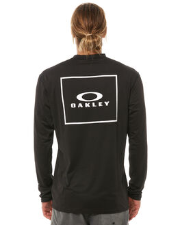 JET BLACK SURF RASHVESTS OAKLEY MENS - 482306AU01K