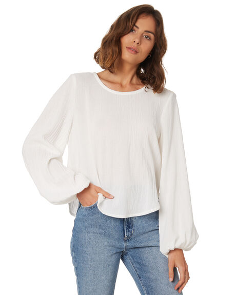 WHITE WOMENS CLOTHING THE HIDDEN WAY FASHION TOPS - H8189166WHITE