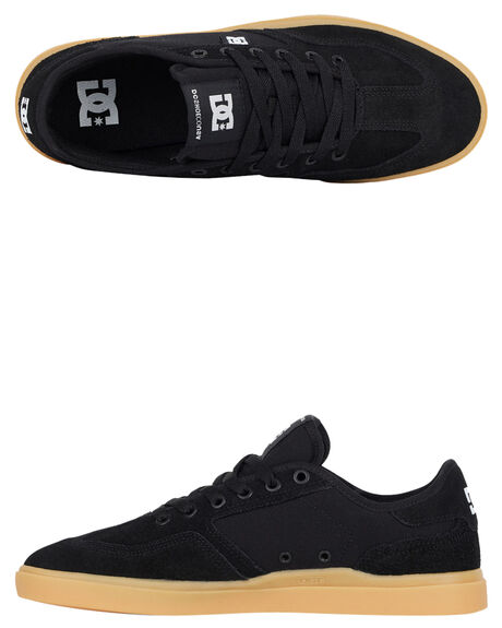 BLACK GUM MENS FOOTWEAR DC SHOES SNEAKERS - ADYS100444-BGM