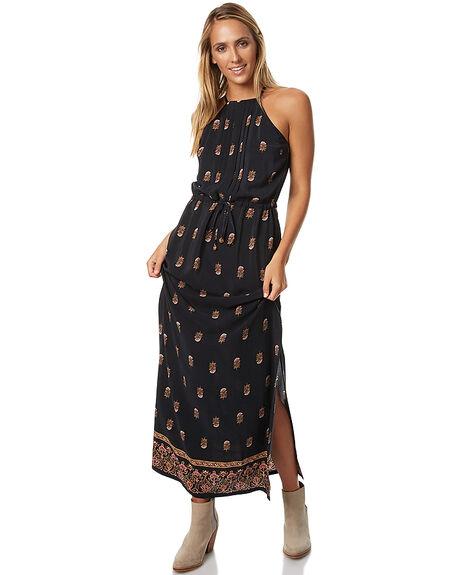 WASHED BLACK WOMENS CLOTHING TIGERLILY DRESSES - T373408WBLK