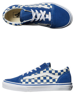 TRUE BLUE WHITE KIDS BOYS VANS SNEAKERS - VNA38HBPOUBLU