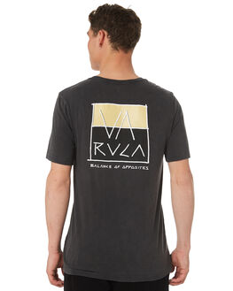 BLACK ACID MENS CLOTHING RVCA TEES - R182094BKACD