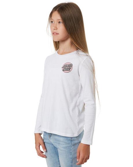 WHITE KIDS GIRLS SANTA CRUZ TOPS - SC-GLA1410WHT