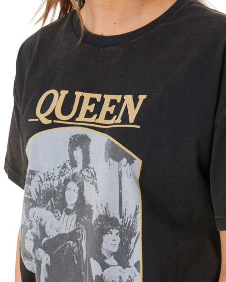 VINTAGE BLACK WOMENS CLOTHING UNIVERSAL TEES - QUEEN068VBLK
