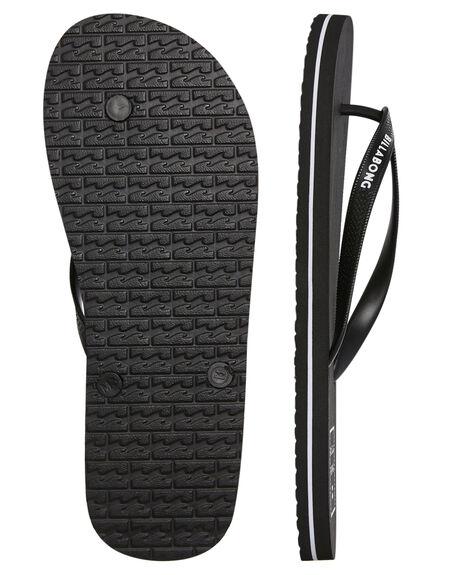 BLACK MENS FOOTWEAR BILLABONG THONGS - 9681935BLK