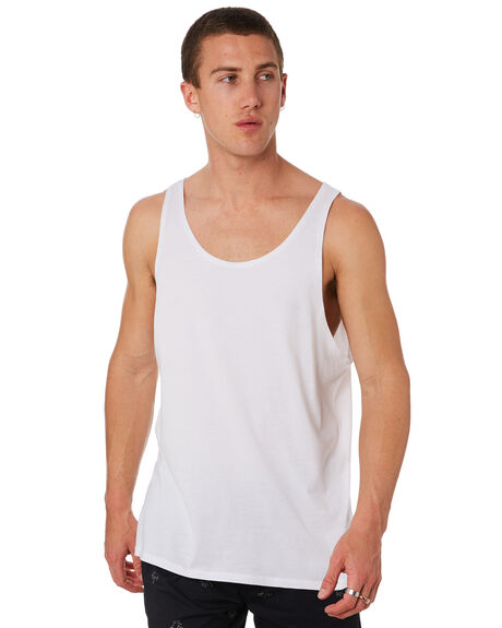 WHITE OUTLET MENS SWELL SINGLETS - S5164274WHT