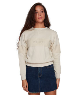 OATMEAL WOMENS CLOTHING RVCA JUMPERS - RV-R207151-O10