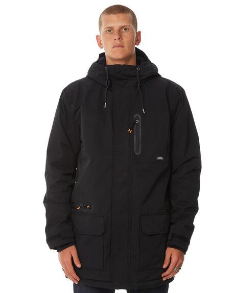 BLACK MENS CLOTHING QUIKSILVER JACKETS - EQMJK03012KVJ0