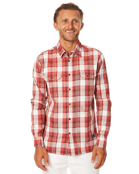 RUST MENS CLOTHING AFENDS SHIRTS - 05-02-108RUST