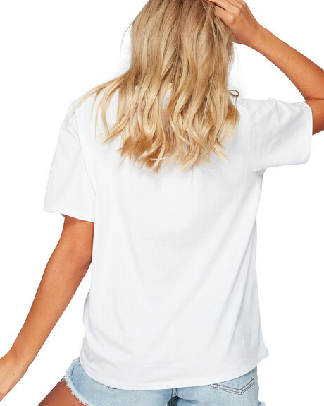 WHITE WOMENS CLOTHING BILLABONG TEES - BB-6592131-WHT