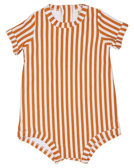 RUST STRIPE KIDS TODDLER GIRLS ZULU AND ZEPHYR SWIMWEAR - ZM1642RRUSS