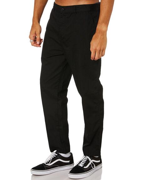 BLACK MENS CLOTHING STUSSY PANTS - ST016603BLACK
