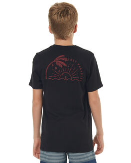 BLACK RED KIDS BOYS SWELL TOPS - S3171005BLKRD