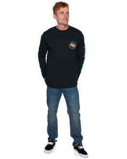 BLACK MENS CLOTHING QUIKSILVER TEES - EQYZT05150KVJ0