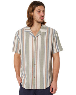 OLIVE MENS CLOTHING RHYTHM SHIRTS - JUL18M-WT07OLI