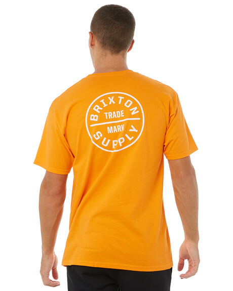 ORANGE MENS CLOTHING BRIXTON TEES - 06281ORNGE