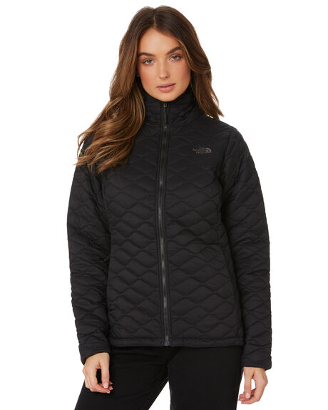 MATTE BLACK WOMENS CLOTHING THE NORTH FACE JACKETS - NF0A3KU3XYM