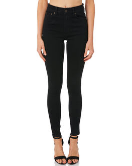 BLACK WOMENS CLOTHING THE HIDDEN WAY JEANS - H8184193BLACK
