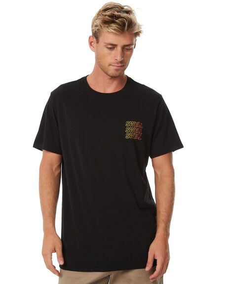 BLACK MENS CLOTHING SWELL TEES - S5184001BLACK