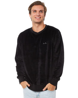 BLACK VELOUR MENS CLOTHING BARNEY COOLS JUMPERS - 401-CR1BVLR