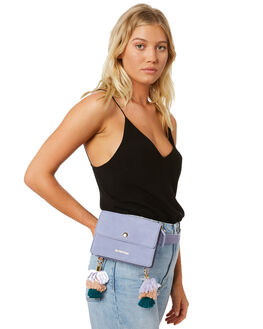 LILAC SUEDE WOMENS ACCESSORIES THE WOLF GANG BAGS + BACKPACKS - TWGSS18B21LIL