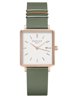 WHITE OLIVE WOMENS ACCESSORIES ROSEFIELD WATCHES - QOGRG-Q027WHTOL