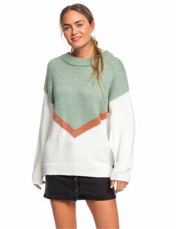 SNOW WHITE WOMENS CLOTHING ROXY KNITS + CARDIGANS - ERJSW03355-WBK0