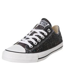 BLACK WOMENS FOOTWEAR CONVERSE SNEAKERS - 566270CBLK