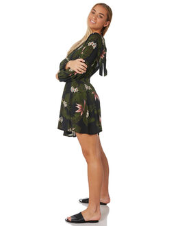 BLACK WOMENS CLOTHING RUSTY DRESSES - DRL0971BLK