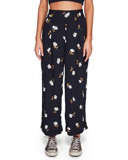 BLACK FLORAL WOMENS CLOTHING BILLABONG PANTS - BB-6592406-B4F