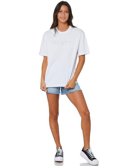 WHITE WOMENS CLOTHING RUSTY TEES - TTL1166WHT