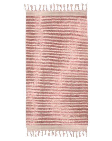 DUSTY PINK WOMENS ACCESSORIES MAYDE TOWELS - 19CRESPNKPNK