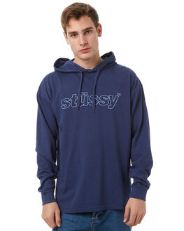 NAVY MENS CLOTHING STUSSY TEES - ST071110NVY
